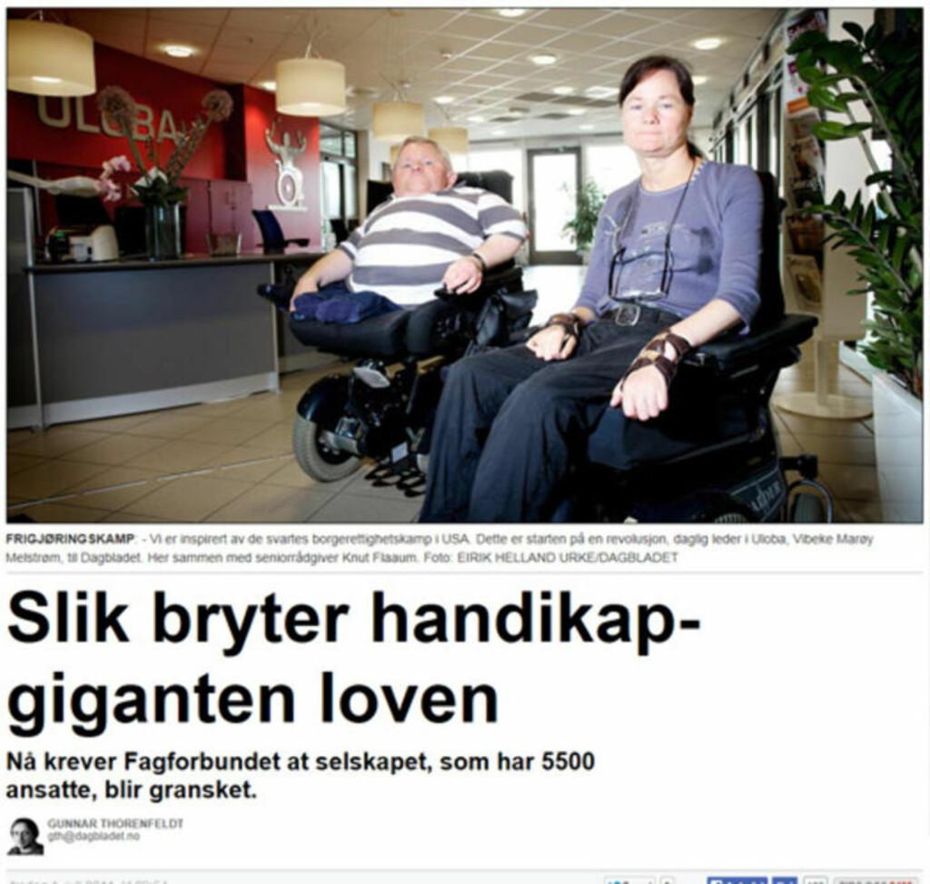 Dagbladet fredag 1. juli 2011.