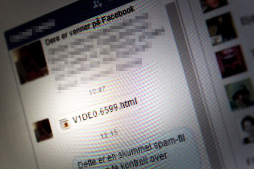 VÆR PÅ VAKT: Når du får en slik melding på Facebook-chatten, uten noe kontekst, bør du la være å trykke og heller spørre om hva det er. Foto: OLE PETTER BAUGERØD STOKKE