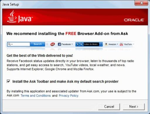 """MED PÅ KJØPET: Pass på å krysse vekk ting som dette om du ikke ønsker å få med ekstra programvare """"på kjøpet""""."""