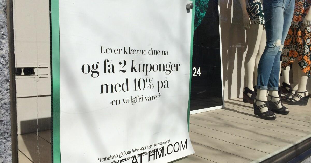 a62c7743 H&M tar i mot dine gamle klær til resirkulering og gjenbruk - DinSide