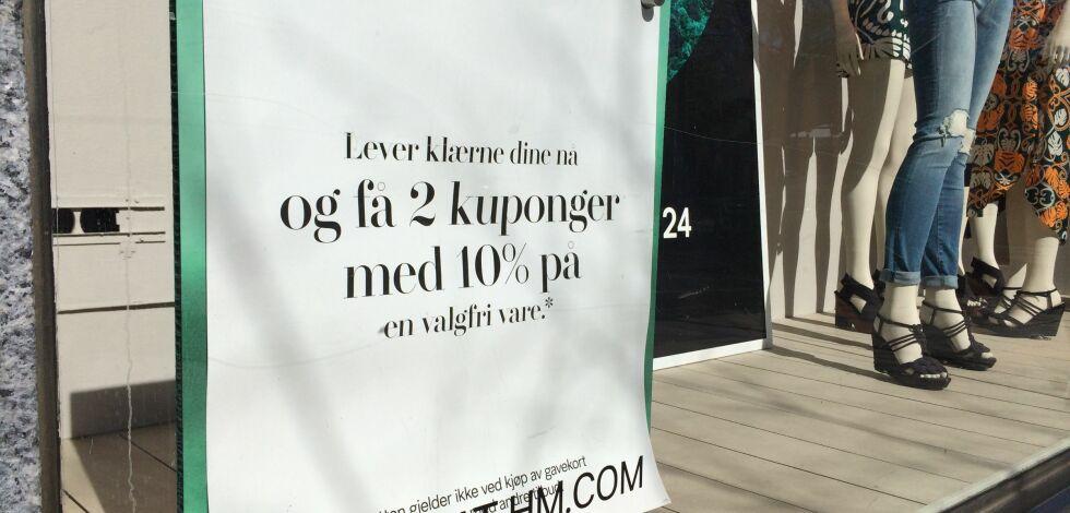 image: H&M tar i mot dine gamle klær til resirkulering og gjenbruk