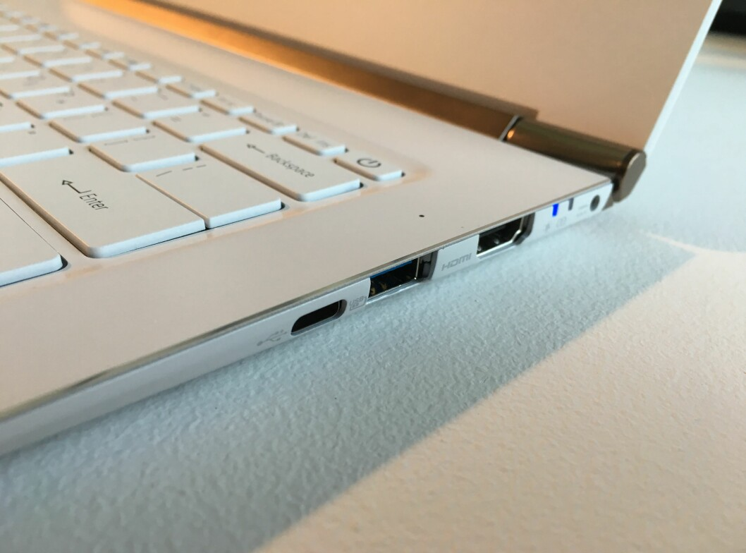 USB-C-port er på plass. Foto: BJØRN EIRIK LOFTÅS
