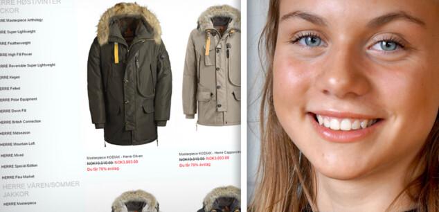 Falsk nettbutikk lurte Aurora (15) til å kjøpe falsk jakke