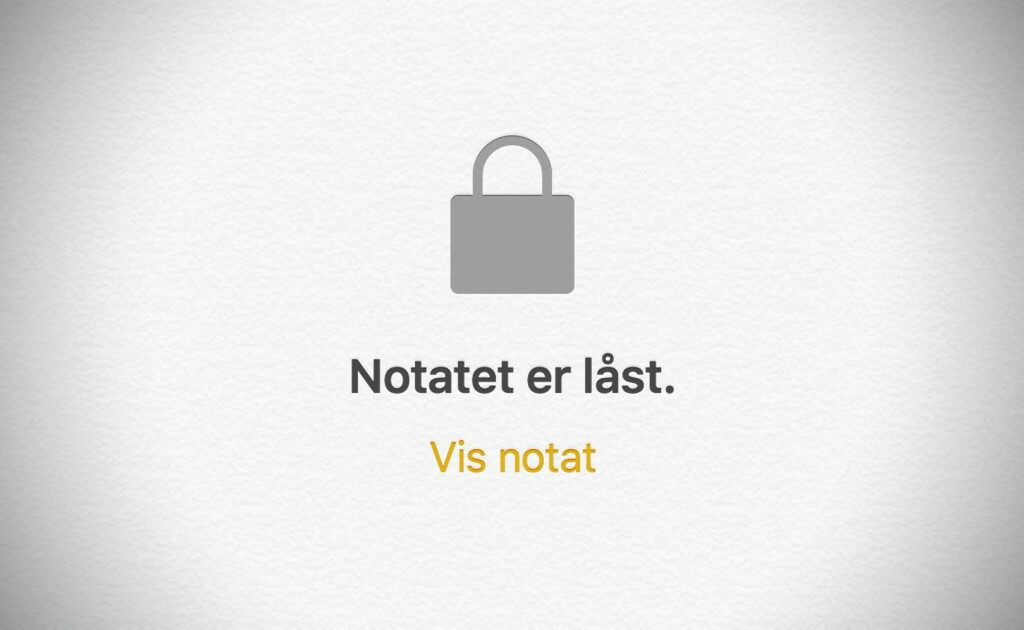 image: Beskytt iPhone-notater med passord