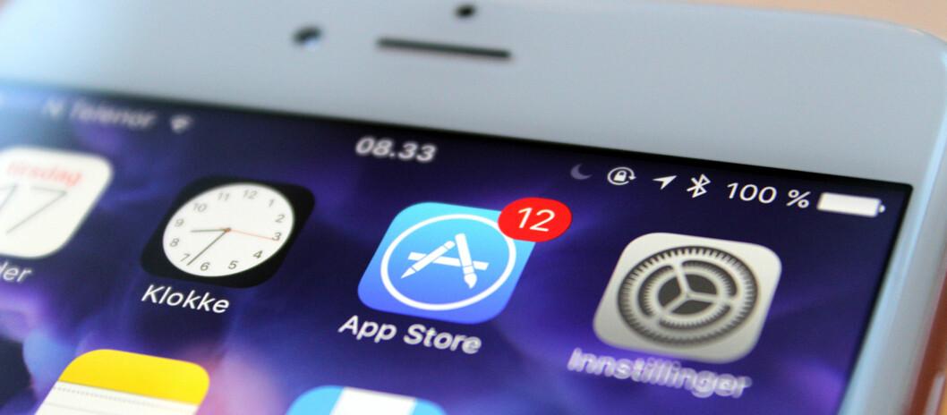 <strong><strong>ØKER PRISEN:</strong></strong> Nå øker minsteprisen i App Store fra 9 til 11 kroner. Foto: KIRSTI ØSTVANG