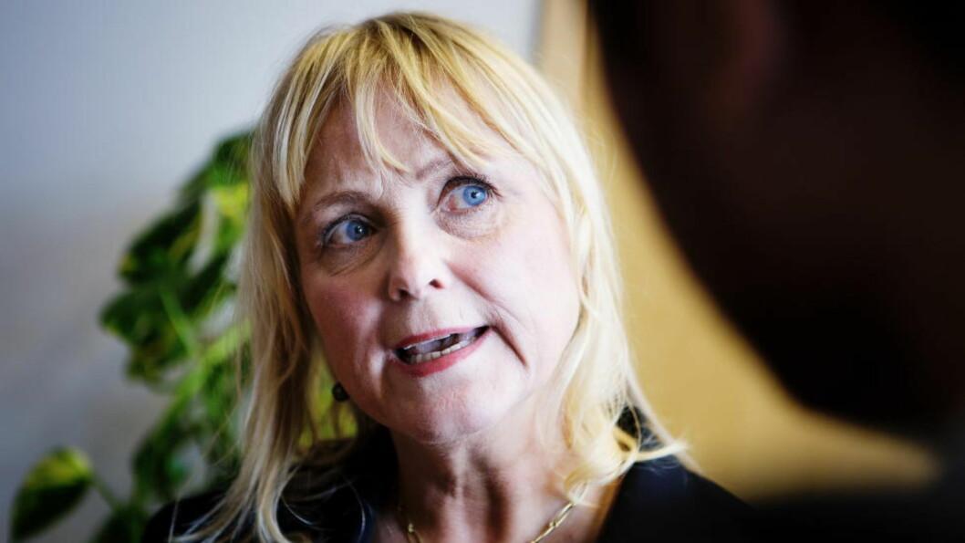 <strong>LISENSEN FRYSES:</strong> Kulturminister Thorhild Widvey (H) og resten av regjeringen fryser NRK-lisensen for 2015. Foto: Christian Roth Christensen