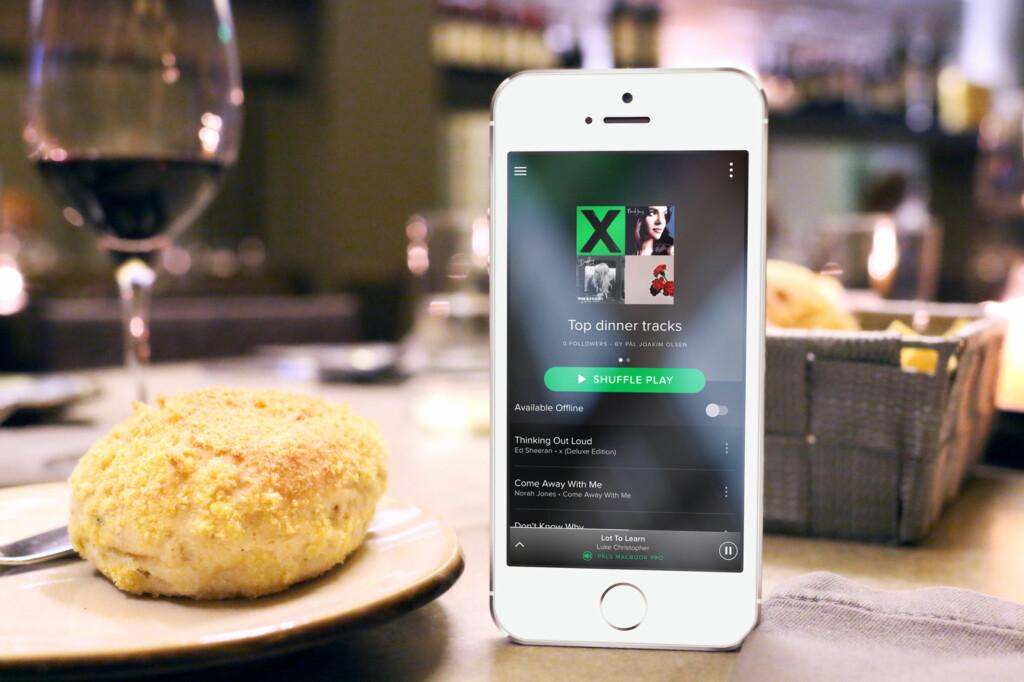 <strong>MUSIKK SOM PASSER:</strong> Ved å bruke The Playlist Miner kan du finne musikken som er mest brukt til middagen. Foto: PÅL JOAKIM OLSEN