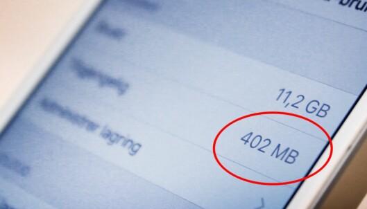 Merkelige triks frigjør lagringsplass på iPhone