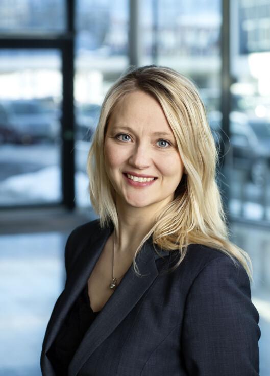 <strong><b>UFORSTÅENDE:</strong> </b>Anita Svanes fra VW-importøren stiller seg uforstående til at deres merke skal være en versting.  Foto: VW
