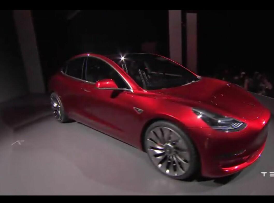 <b>LANGE LINJER:</b> Tesla holder  Foto: SKJERMDUMP