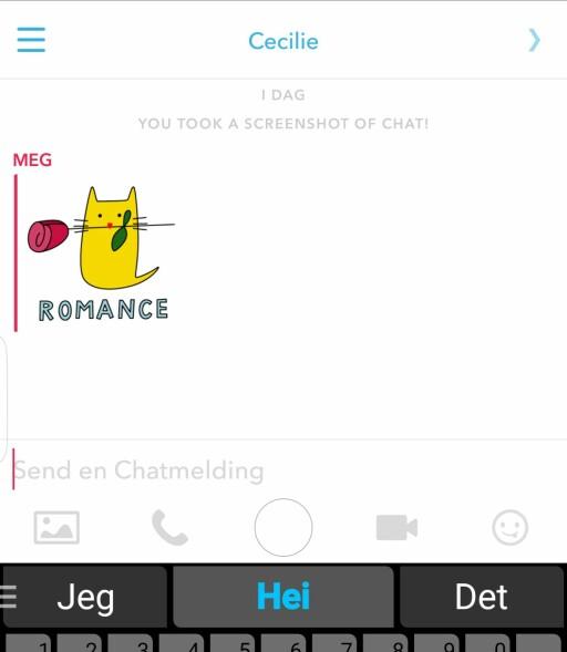 NYE FUNKSJONER: Nå kan du sende stickers i Snapchat-appen, eller ringe motparten via internett. Foto: PÅL JOAKIM OLSEN