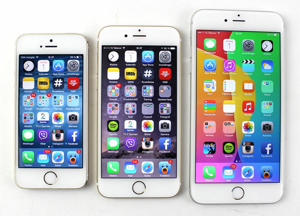 iphone 5s tommer skjerm