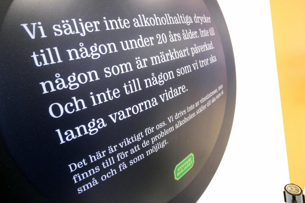 DU MÅ VÆRE 20! Du får ingenting på Systembolaget om du ikke har fylt 20 - selv ikke øl eller vin. Foto: OLE PETTER BAUGERØD STOKKE
