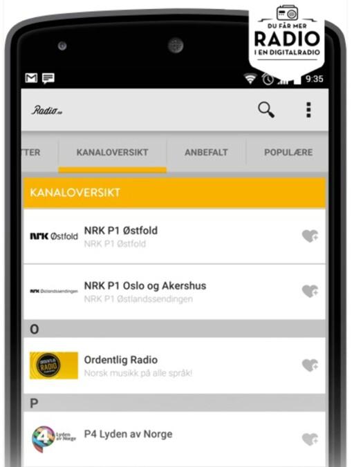 MED DAB: Den norske appen radio.no blir å finne på LG Stylus 2 og kan brukes for å lytte til DAB-kanaler.