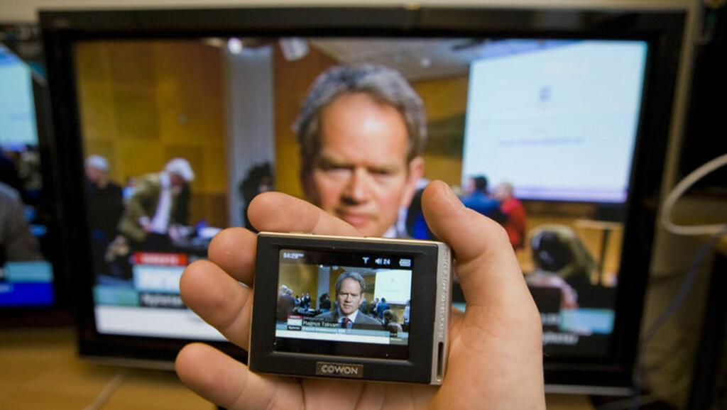 TV I LOMMA: Siden 2009 har det vært mulig å se TV-sendinger i Osloområdet via DMB. Foto: PER ERVLAND