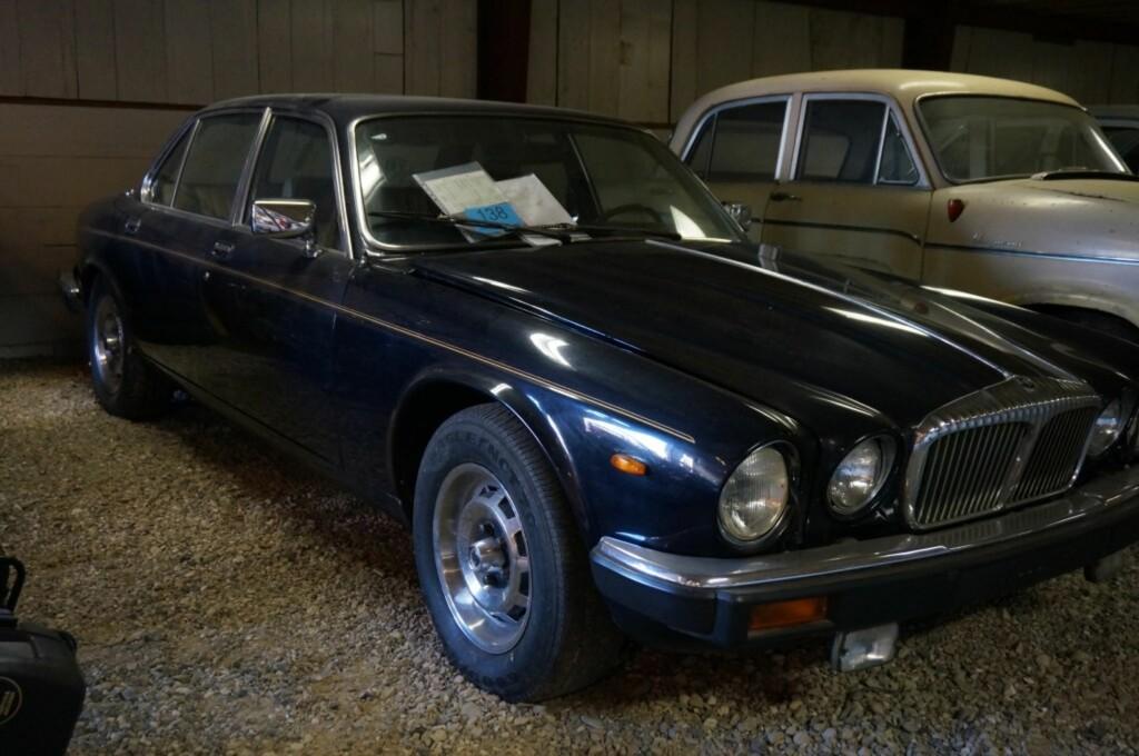 KJØRT AV KONGEHUSET: Denne Daimler Sovereign, 4,2 literen fra 1981 er faktisk kjørt av Det danske kongehus.  Foto: Campen Auktioner A/S