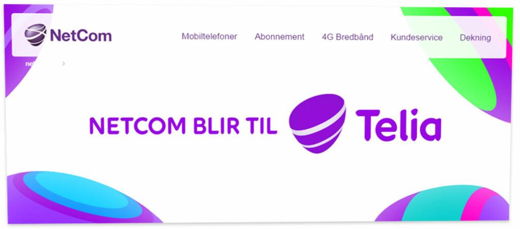 NY LOGO: Telia-logoen blir ganske lik den lilla klumpen vi allerede har blitt vant til.  Foto: OLE PETTER BAUGERØD STOKKE