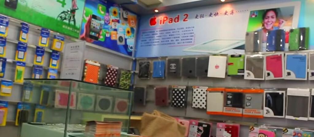 <B>FALSK APPLE STORE</B>: Det er ikke bare produkter og navn som kopieres og etterlignes, i Kina er det avdekket flere falske butikkonsepter, deriblant IKEA og Apple Store (bildet). Foto: YOUTUBE