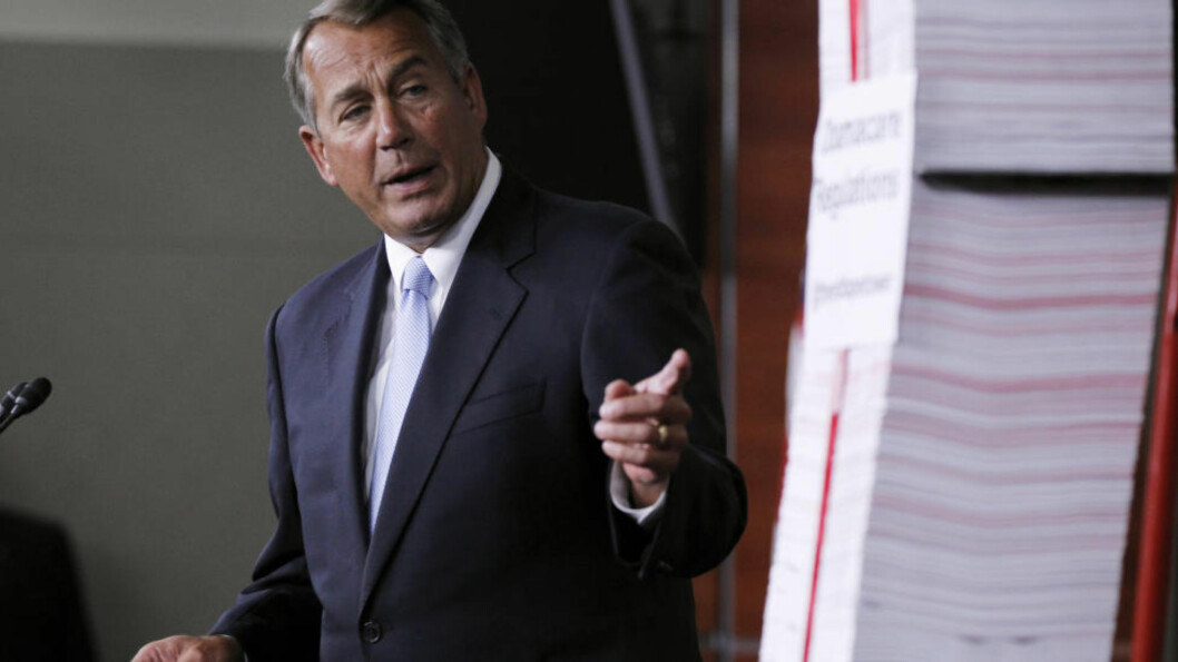 BER OM VURDERING: Den republikanske speakeren, John Boehner, ber president Barack Obama vurdere innreiseforbud for personer fra de ebolarammede landene i Vest-Afrika. Foto: AP Photo/Molly Riley, File