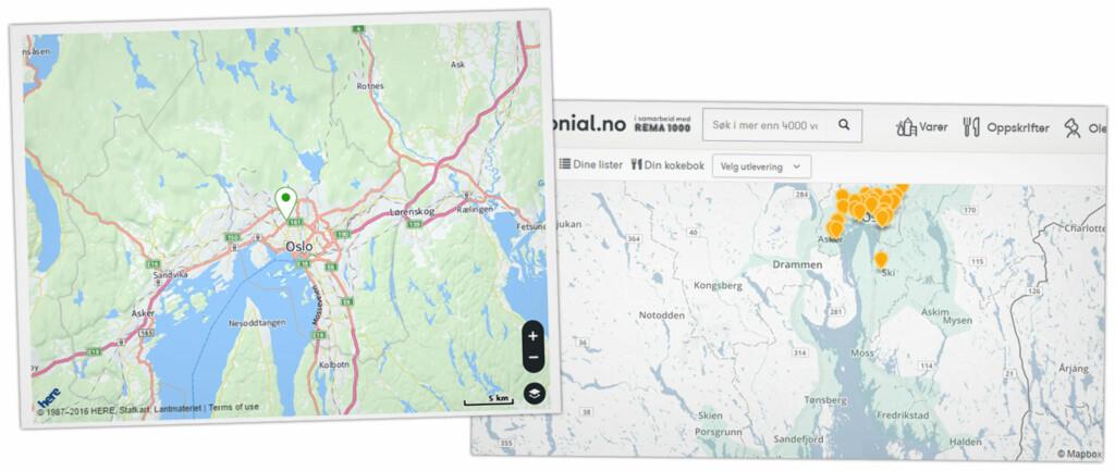 MER UTBREDT: Kolonial.no leverer fra Skien til Lillehammer, mens Marked.no begynner i Oslo-området. Foto: OLE PETTER BAUGERØD STOKKE