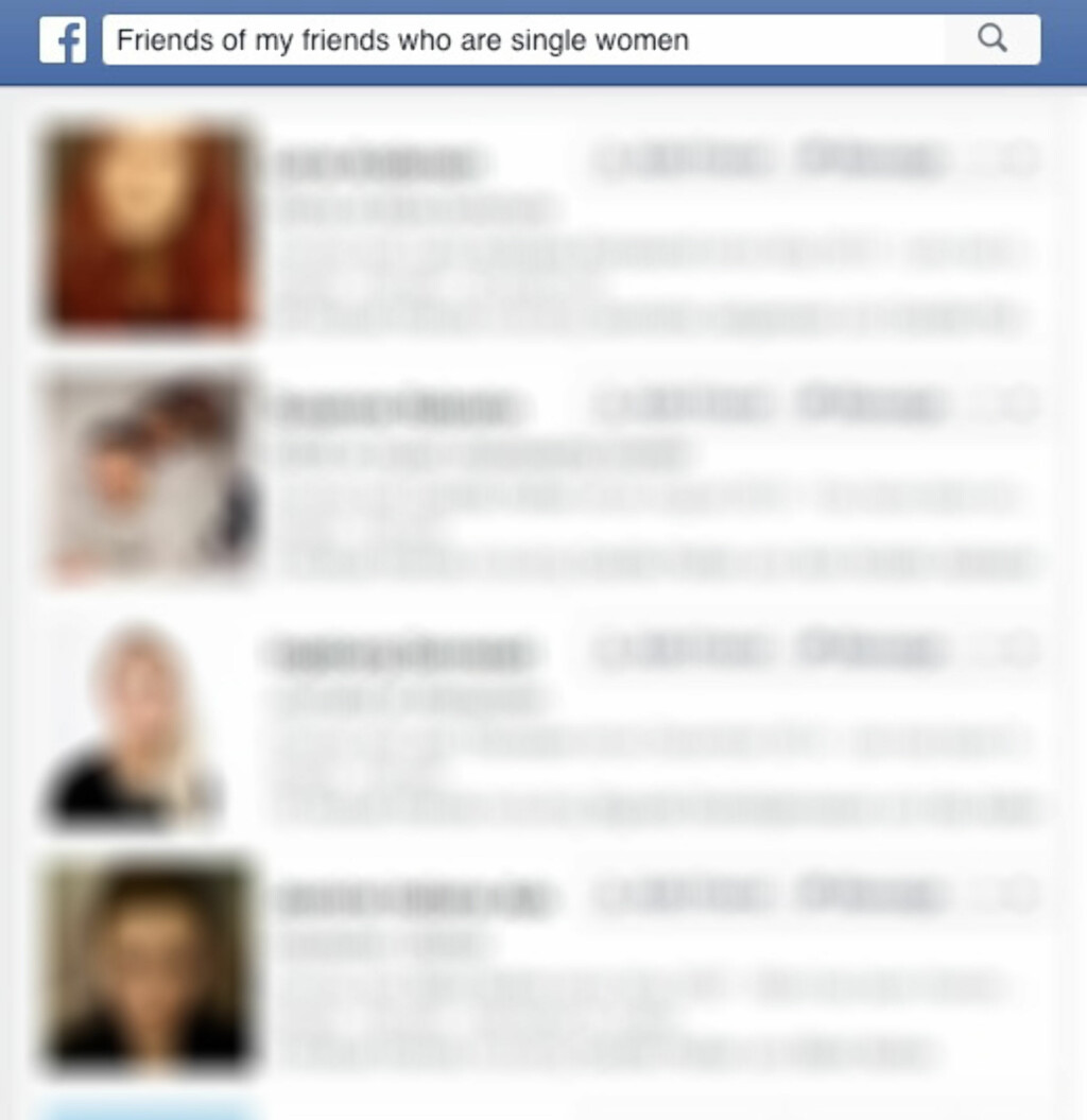Friends of my friends who are single women