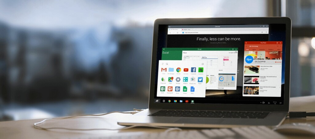 <strong>ANDROID PÅ PC:</strong> Remix OS lanseres 12. januar og kan lastes ned gratis for PC og Mac. Foto: JIDE