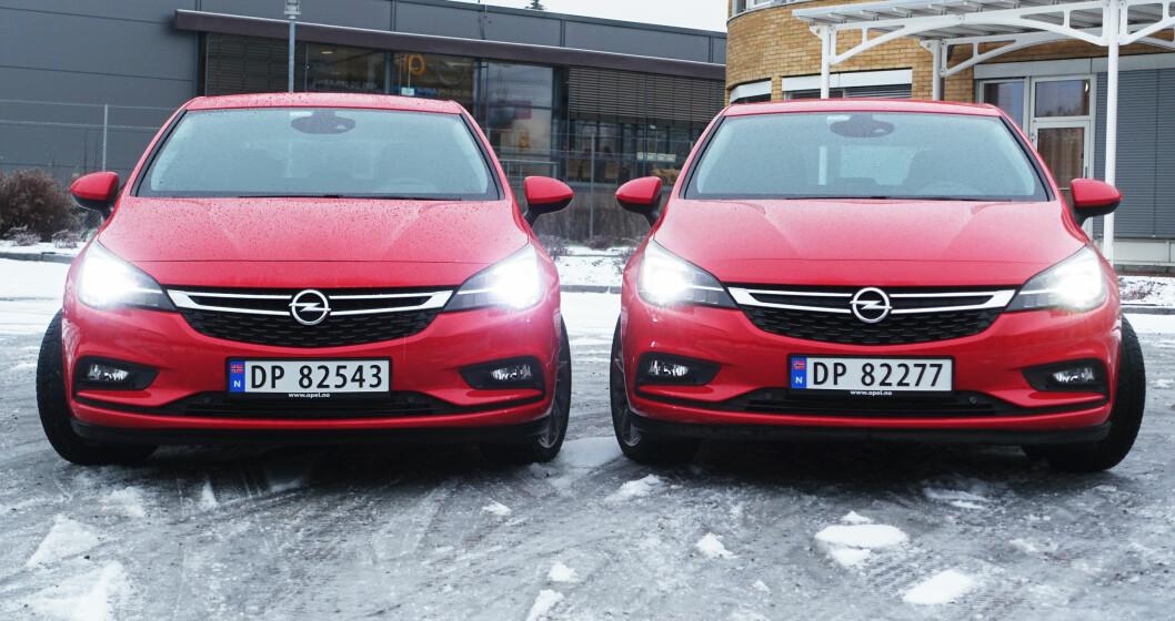 <strong><b>SER LYSET:</strong></b> Opel er alene i klassen om intellegente hovedlykter. Har du først prøvd dem, vil du ikke tilbake. Foto: RUNE M. NESHEIM