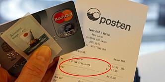 Vær obs ved bruk av kredittkort på Posten