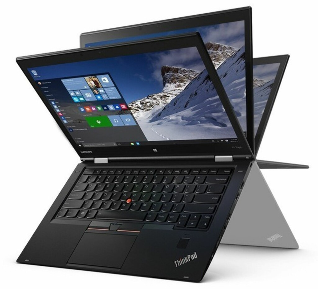 Lenovo Thinkpad X1 Yoga vil være blant de første PC-ene med Oled-skjerm. Den vises frem under årets CES-messe. Foto: LENOVO
