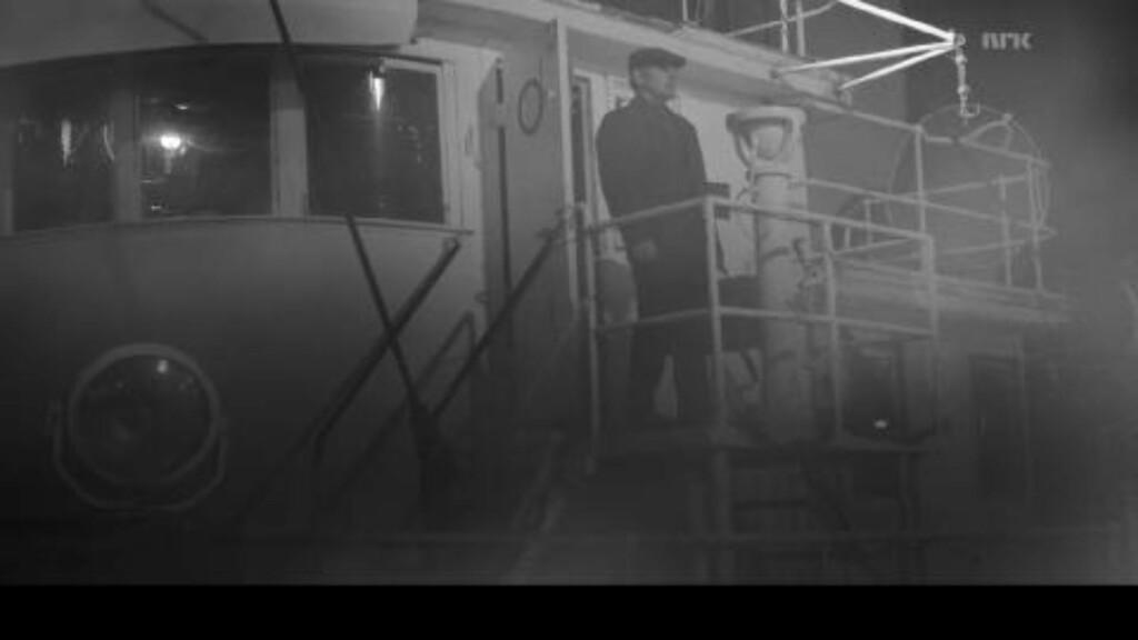 I BJØRVIKA:  Bruce Springsteen gjør sin entré i «Lilyhammer» ved å komme ut av en båt, som ligger til kai i Bjørvika. Scenen er spilt inn i New York ved hjelpt av green screen. Foto: Pål Bugge Haagenrud