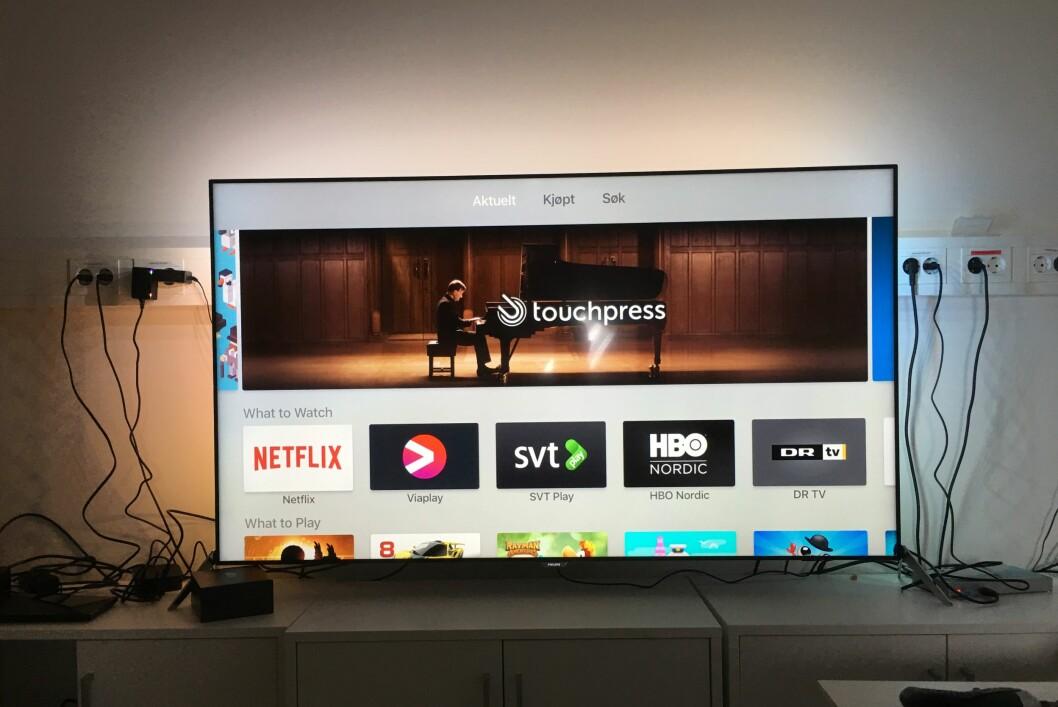 <strong><strong>NÅ MED APPER:</strong></strong> Årets Apple TV-utgave har en egen app-butikk der det for tiden befinner seg rundt 3.000 apper. Vi har plukket ut noe av våre favoritter. Foto: PÅL JOAKIM OLSEN