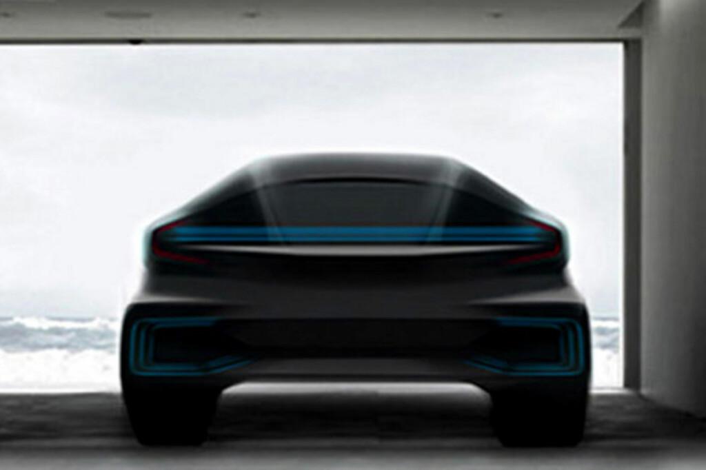 <b>EN SKISSE:</b> Faraday har valgt å holde det endelige produktet hemmelig. Nyheten vil lanseres i Las Vegas, 6. januar.  Foto: Faraday Future