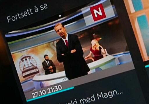 """FORTSETT Å SE: Via dekoderen listes det du har sett nylig ut på forsiden, sånn at det er lett å finne igjen. På mobil/nettbrett må du gå inn på """"Nylig sett"""". Foto: ØYVIND PAULSEN"""