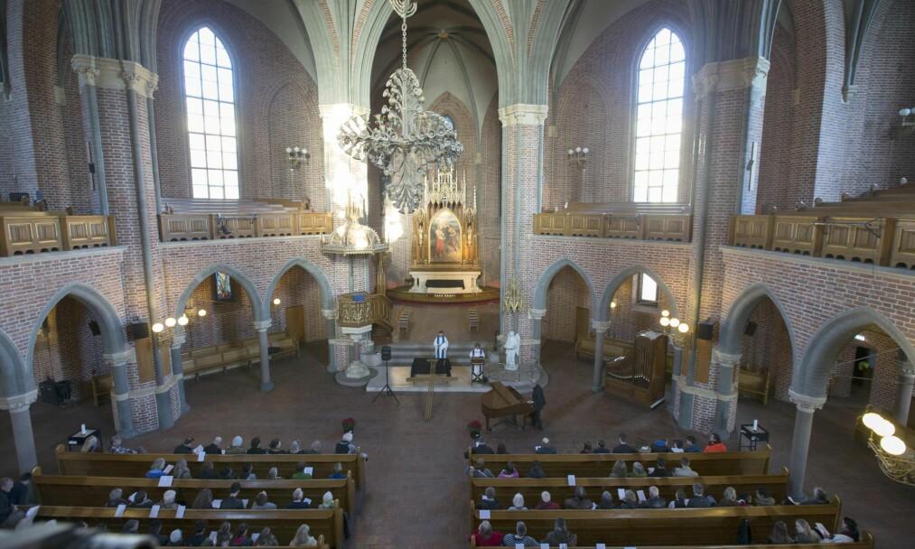 <strong>BRUKES BEVISST:</strong> Kirken bruker sitt rimelig høye medlemstall for å argumentere for sin nytte og relevans, skriver artikkelforfatteren. Foto: Terje Pedersen / NTB Scanpix