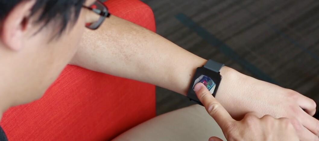 <strong><strong>VRI FINGEREN:</strong></strong> Med FingerAngle kan du vri én finger rundt på skjermen for å utføre handlinger deretter. Foto: QEEXO