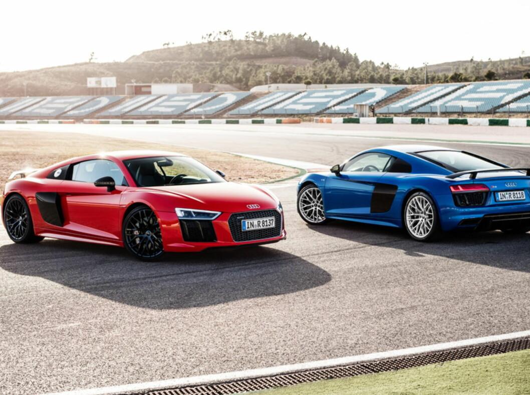 <strong><b>BILLIGERE:</strong></b> Audi R8 med V10-motor blir også en av bilene du kan spare mye penger på.  Foto: AUDI