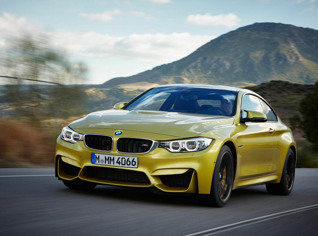 <strong><b>OPPNÅELIG:</strong></b> BMW M4 var allerede ganske billig (1,2 mill), men blir ytterlig 127.000 rimeligere. Foto: BMW