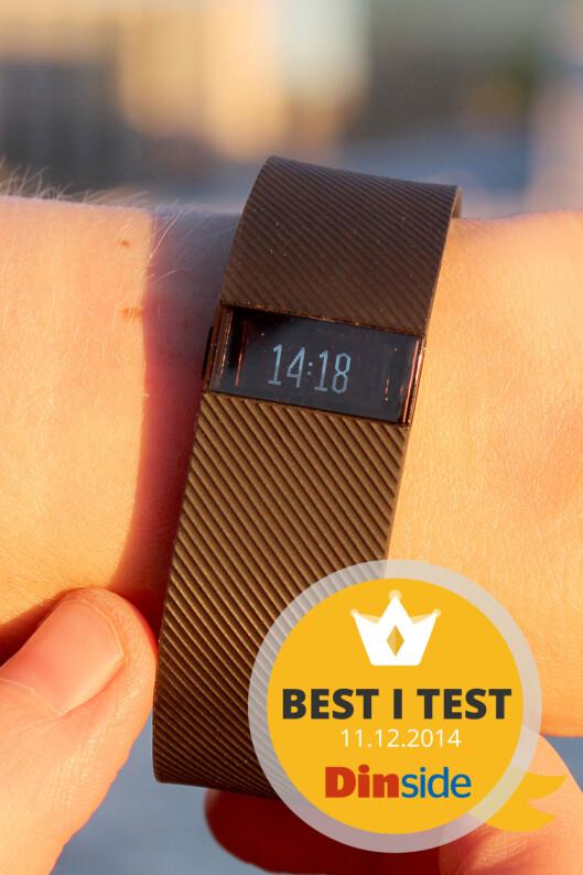 <strong><strong>FAVORITTEN:</strong></strong> Av treningsarmbåndene vi har testet til nå, er Fitbit-armbåndet det beste. Foto: OLE PETTER BAUGERØD STOKKE