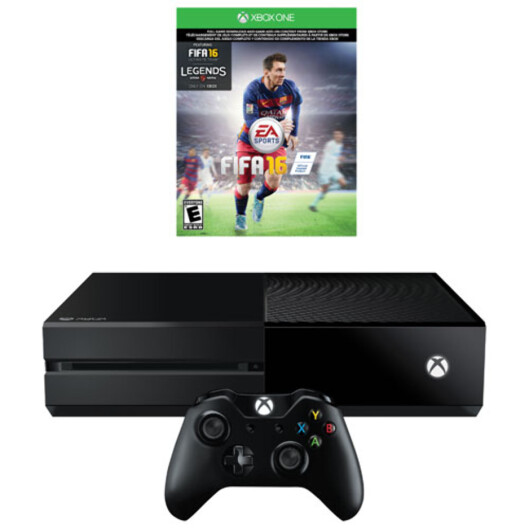 <strong><strong>BILLIGST:</strong></strong> Skal du ha en Xbox One denne jula, får du utgaven med Fifa 16 til 2290 kroner hos NetOnNet –med gratis frakt.