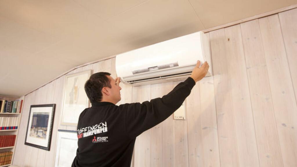 HOLDER IKKE Vanlige luft til luft- varmepumper kan bruke for lang tid på å få temperaturen opp. Foto: MITSUBISHI ELECTRIC