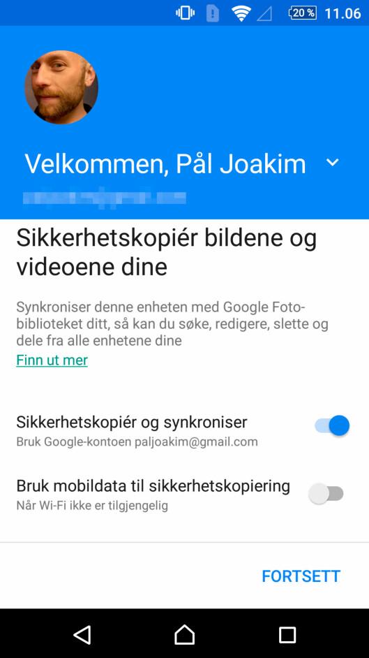Sikkerhetskopiér mobilbildene på nettet