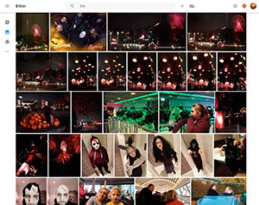 Du finner alle bildene du har lagret hos Google på photos.google.com Foto: PÅL JOAKIM OLSEN