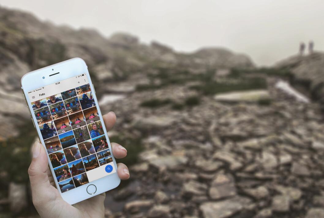 <strong><strong>SIKKERHETSKOPI:</strong></strong> Det er deilig å kunne senke skuldrene, vel vitende om at alle bilder på telefonen din har en kopi trygt lagret i nettskyen. Foto: PÅL JOAKIM OLSEN