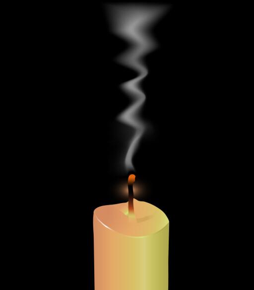 UHELDIG FOR INNEKLIMAET: Levende lys avgir større eller mindre grad av sot. Dette slipper du ved bruk av batterilys. Foto: MAHESH PATIL/FOTOLIA/NTB SCANPIX