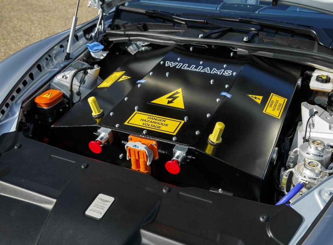 <b>HVA ER DET?</b> Williams Advanced Engineering står bak elektrisk innmat i dette Aston Martin-konseptet. Foto: ASTON MARTIN