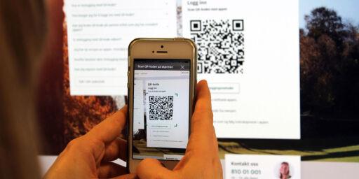 image: Vi har testet Skandiabankens innlogging med QR-kode