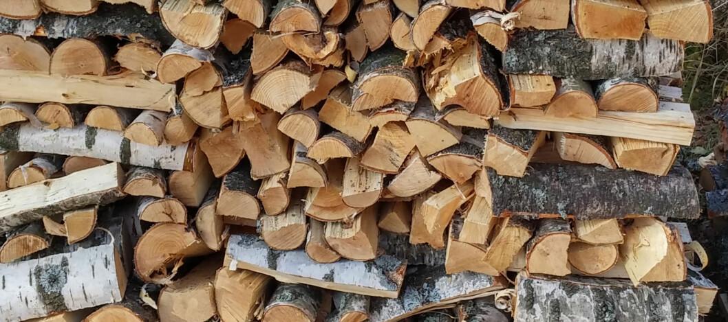 <strong><b>FREMDELES POPULÆRT:</strong> </b>Til tross for et par milde vintre og et synkende vedforbruk, er det fremdeles svært mange som varmer opp boligen med ved. Foto: BRYNJULF BLIX