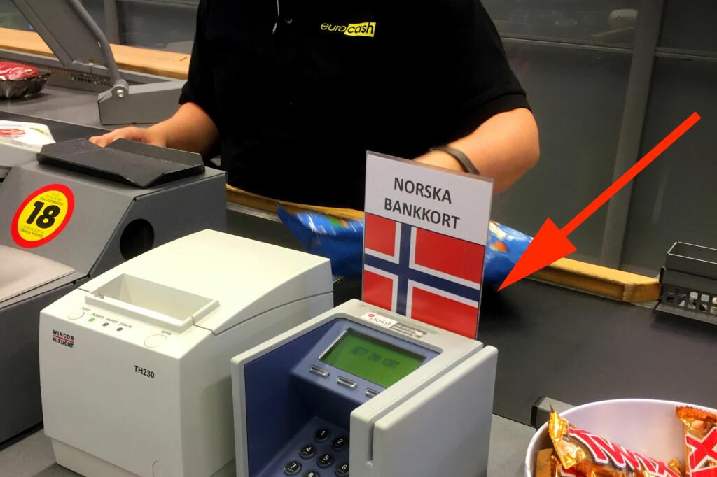 <b>- DETTE ER Å GÅ LANGT!</b> Her får du kun betalt i norske kroner. - Ikke la deg lure, oppfordrer forbrukerøkonom Silje Sandmæl i DNB. Foto: MARIANNE URDAHL