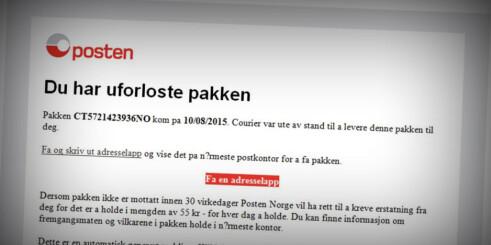 Posten advarer mot nye virus i e-post