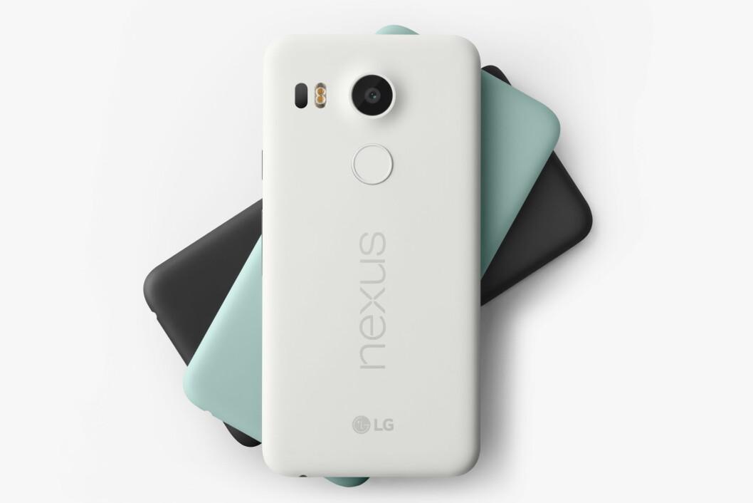 <strong><b>SAMARBEIDSPROSJEKT:</strong></b> Nexus 5X er Googles nyeste telefon, produsert av LG. Foto: GOOGLE